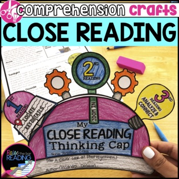 Reading Comprehension Crafts: Close Reading Activity for Reading Response