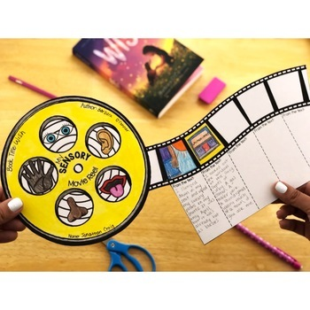 Reading Comprehension Crafts: Creating Sensory Images Reading Response Activity