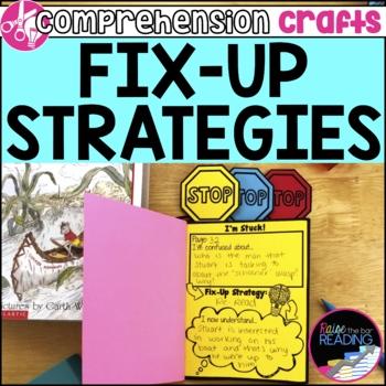 Reading Comprehension Crafts: Fix Up Strategies Reader Response Activity