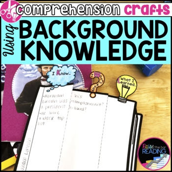 Reading Comprehension Crafts: Using Background Knowledge Activity
