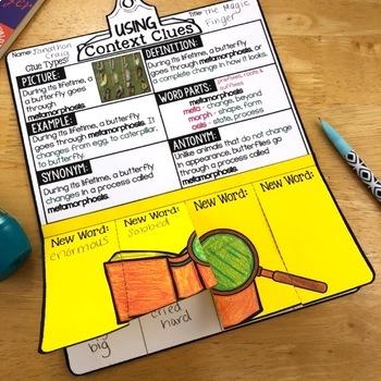 Vocabulary Activities, Reading Response Crafts