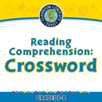 Reading Comprehension: Crossword - NOTEBOOK Gr. 3-8