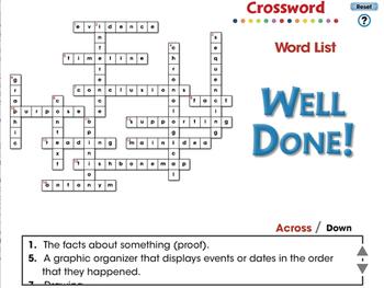 Reading Comprehension: Crossword - PC Gr. 3-8