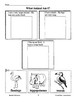 Reading Comprehension: Cut, Paste, & Color 1