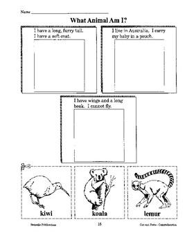 Reading Comprehension: Cut, Paste, & Color 2