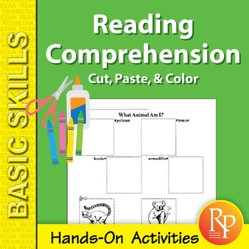 Reading Comprehension: Cut, Paste, & Color