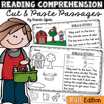 Reading Comprehension Cut & Paste Passages: Fall