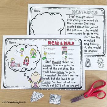 Reading Comprehension Cut & Paste Passages: Summer