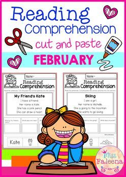February Reading Comprehension Cut and Paste
