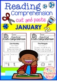 January Reading Comprehension Cut and Paste