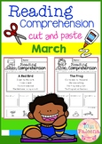 March Reading Comprehension Cut and Paste