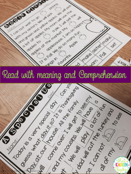 Reading Comprehension Cut and Paste Passages