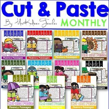 Reading Comprehension Cut and Paste Passages Bundle