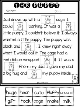 Reading Comprehension Cut and Paste Passages-February