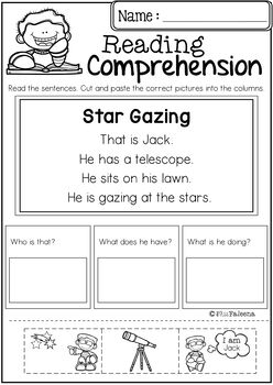 Reading Comprehension Cut and Paste (Set 2)