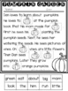 Reading Comprehension Cut and Paste passages- October