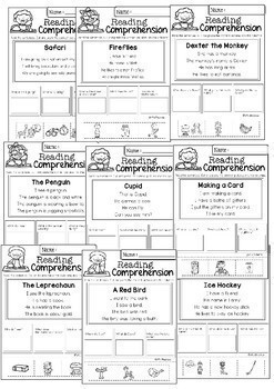 Reading Comprehension Cut and Paste Bundle