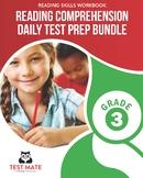 Reading Comprehension Daily Test Prep BUNDLE, Grade 3 (Com