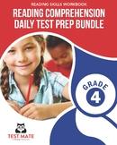 Reading Comprehension Daily Test Prep BUNDLE, Grade 4 (Com
