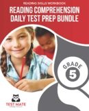 Reading Comprehension Daily Test Prep BUNDLE, Grade 5 (Common Core Worksheets)