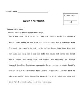 Reading Comprehension - David Copperfield (Penguin Readers)