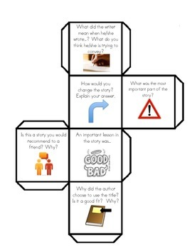 Reading Comprehension Dice-About the Text
