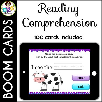 Reading Comprehension ● Digital Task Cards ● Boom Cards ● Reading Center