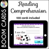 Reading Comprehension ● Digital Task Cards ● Boom Cards ●