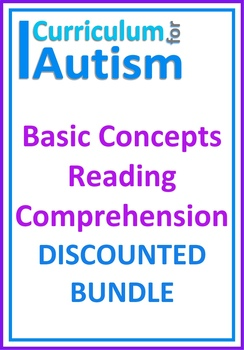 Autism Reading Comprehension Skills Special Education File Folders BUNDLE
