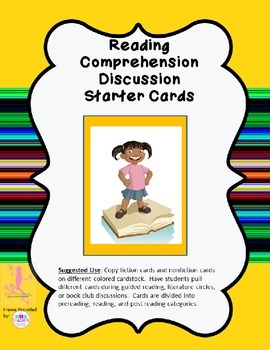 Reading Comprehension Discussion Starter Cards