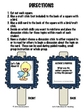 Guided Reading, Reading Comprehension, Book Discussions:  Let's Talk About It!