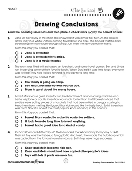 Reading Comprehension: Drawing Conclusions Gr. 5-8
