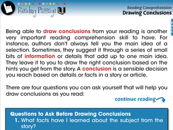 Reading Comprehension: Drawing Conclusions - PC Gr. 3-8