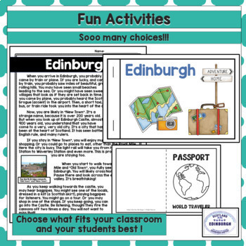 Reading Comprehension Passages and Questions - Edinburgh