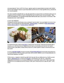 Reading Comprehension: El exito del cuy en los restaurantes peruanos