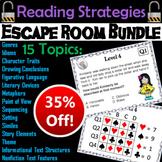 Reading Comprehension: ELA Escape Room Back to School Bundle
