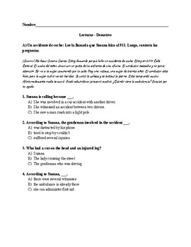 Reading Comprehension Exercises - Disasters and Emergencies