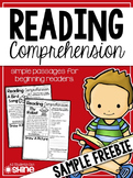 Reading Comprehension FREEBIE