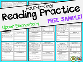 Reading Comprehension: FREEBIE | Upper Elementary Passages