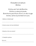 Reading Comprehension FRENCH