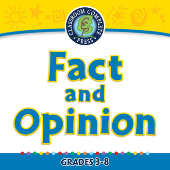 Reading Comprehension: Fact and Opinion - NOTEBOOK Gr. 3-8