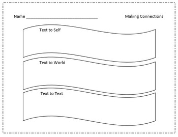 Reading Comprehension: Fact/Opinion, Connections, Inferences graphic organizers