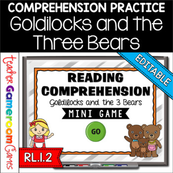 Reading Comprehension - Fairy Tales - Goldilocks and the 3