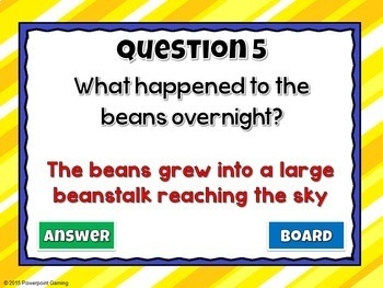 Reading Comprehension - Fairy Tales - Jack and the Beanstalk Powerpoint Game