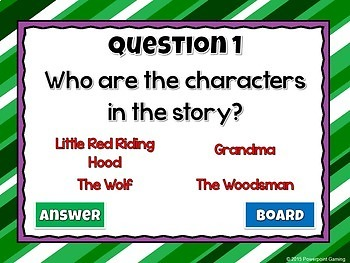 Reading Comprehension - Fairy Tales - Little Red Riding Hood Powerpoint Game