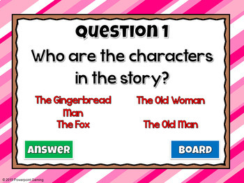 Reading Comprehension - Fairy Tales - The Gingerbread Man Powerpoint Game