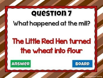Reading Comprehension - Fairy Tales -The Little Red Hen Powerpoint Game