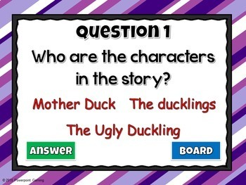 Reading Comprehension - Fairy Tales - The Ugly Duckling Powerpoint Game