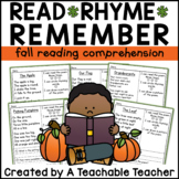 Fall Reading Comprehension Poems