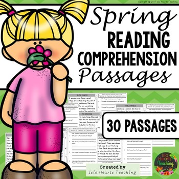 Reading Comprehension: Spring Reading Comprehension Passages and Questions